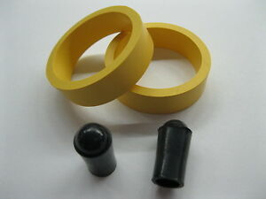 2-YELLOW-PREMIUM-FLIPPER-RUBBER-RINGS-1-1-2-034-x-1-2-034-w-2-FREE-Black-Tips