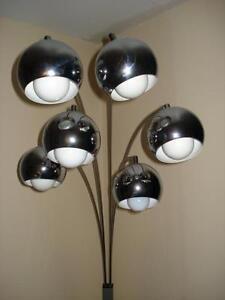 ARC-FLOOR-LAMP-Antique-6-Light-Pod-Light-Mid-Century-Modern-1970-039-s-ITALY-Co