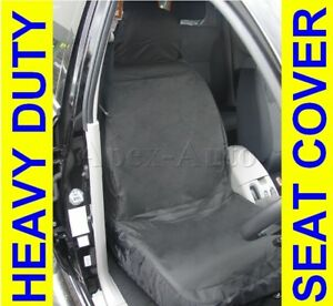 extra heavy duty removable car front seat cover 100 waterproof protectors ebay. Black Bedroom Furniture Sets. Home Design Ideas