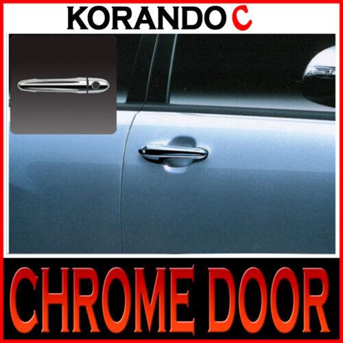 Chrome Door Handle Cover Set For 11 Ssangyong Korando C