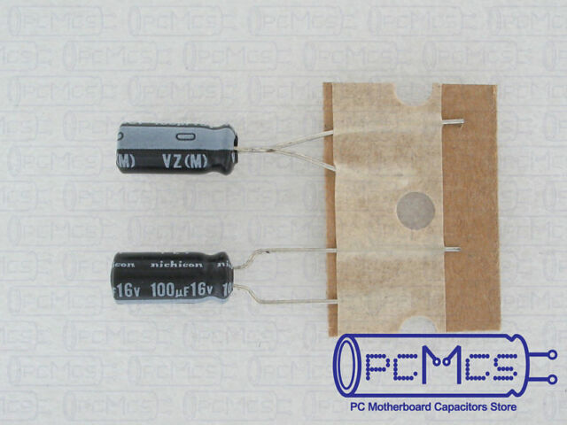 10 Pcs of Nichicon VZ Series 16V 100UF Made in Japan 105c Capacitor