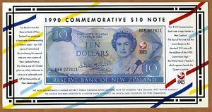 New-Zealand-10-1990-P-176-UNC-gt-Commemorative-Folder