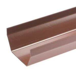 Brown-SQUARE-Guttering-and-Fittings-Gutter-Size-117mm-x-57mm-x-3-6m