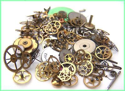 150+ Lot 10g Steampunk Watch Parts Pieces Vintage Antique Gears Cogs Wheels