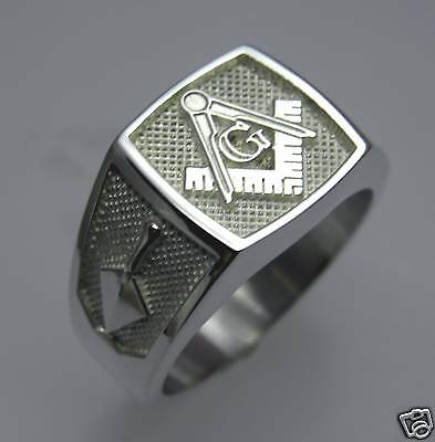 .925 STERLING SILVER MASONIC BLUE LODGE RING