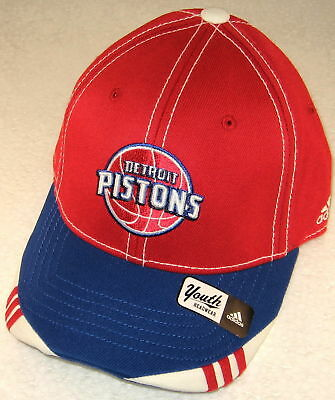 NBA Detroit Pistons Multi-Color Youth Structured Fitted Hat By adidas