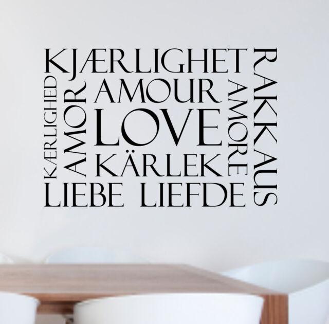 Wall Transfer Sticker - LOVE in 10 Languages WA248X