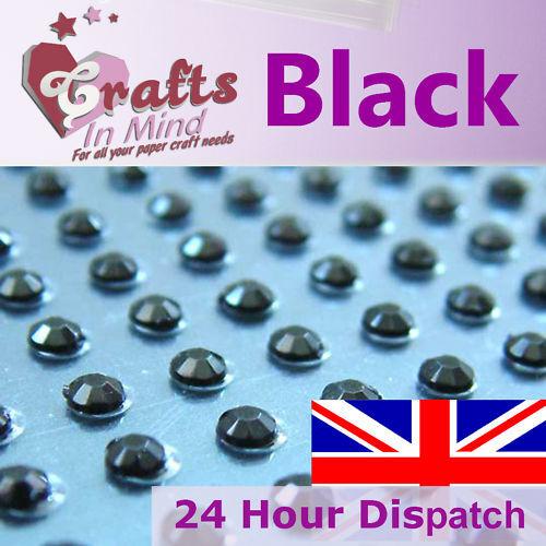 195 x 3mm Round Diamante Rhinestone Gems Self Adhesive