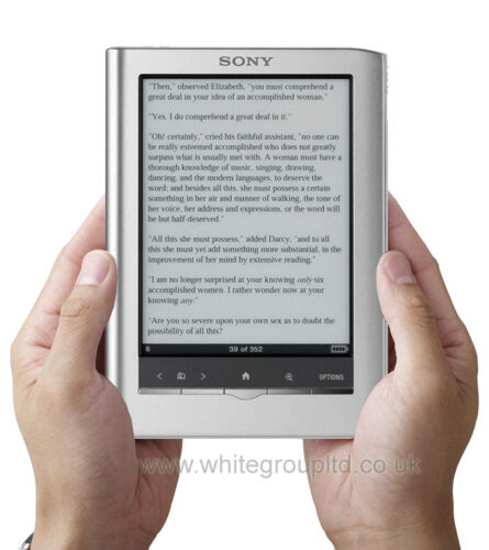 SILVER SONY PRS-350 TOUCH SCREEN EREADER E BOOK READER