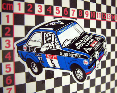 Roger Clark Rally Sticker Ford Escort MK2 Mexico RS2000