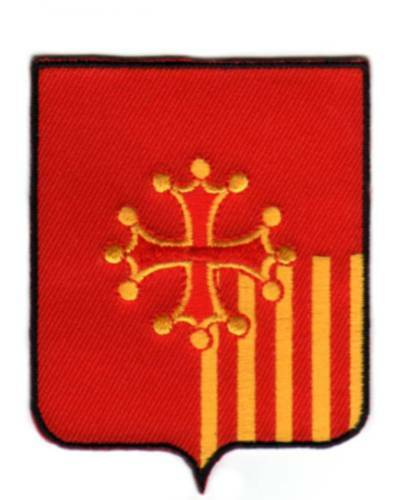 Ecusson PATCH BLASON Armoirie - LANGUEDOC ROUSSILON
