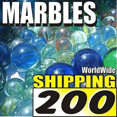 "200 Marbles A1 SLINGSHOT AMMO Ammunition FREE SHIP 5/8"""