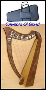 CP-BRAND-NEW-27-STRING-39-034-HIGH-HARP-WITH-LEVERS-FREE-CARRY-BAG-amp-SHIP-IN-USA