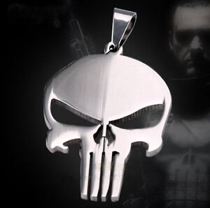 Marvel-Hero-The-Punisher-Steel-Skull-Chain-Necklace-RTX
