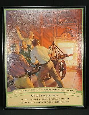 1935 Bausch & Lomb Optical Glassmaking Lrg Advertiser