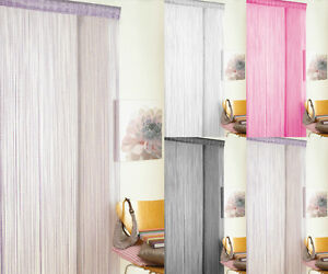NEW-Glitter-String-Door-Curtain-Patio-Fly-Screen-Curtains-Pink-Black-White-Lilac
