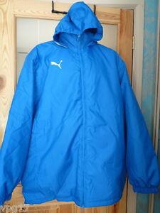 Puma-Coach-Jacket-Coat-Hood-Mens-Womens-Royal-Blue-Navy-Blue-New