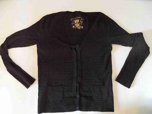s oliver edle schwarze strickjacke m schleife gr 40 neuw cz3 ebay. Black Bedroom Furniture Sets. Home Design Ideas