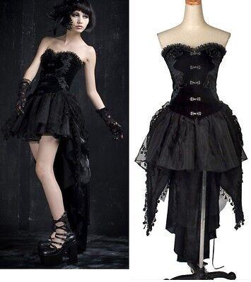 PUNK gothic sexy Kera Corset swallow-tailed dress Q160
