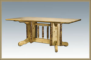 Amish Made Kitchen Tables Log pedestal table amish made kitchen tables lodge cabin furniture image is loading log pedestal table amish made kitchen tables lodge workwithnaturefo