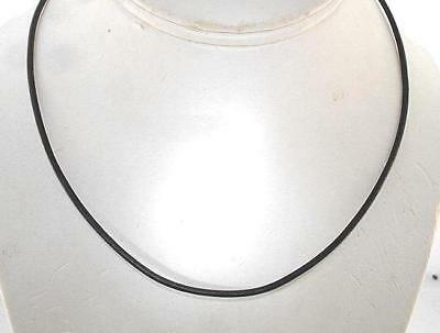 """Choice of Length 2mm Genuine Black Leather Cord Sterling Silver Necklace 16""""-20"""""""