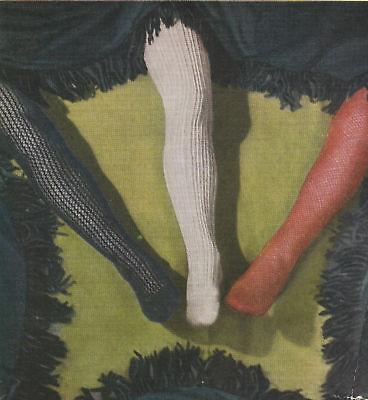 3 Vintage 1940s ladies lace stockings knitting patterns-free UK postage
