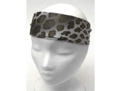 Nuovo Gepard Leopard Animal Fascia Per Capelli Nastro Frontale Nero/grigio Headband-mostra Il Titolo Originale Texture Chiara