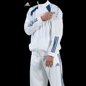 Adidas-Judo-Karate-Polyester-White-Track-Suit