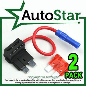 2-Add-A-Circuit-Fuse-Tap-Piggy-Back-Standard-Blade-Fuse-Holder-ATO-ATC-12v-24v