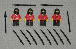 LEGO-Minifigures-Lot-4-Ninjas-w-Samurai-Swords-Katanas-Toys-Lego-Minifigs-Guys
