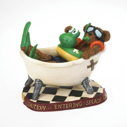 Boyds Bears 1E Bathtime with Scuba Gear Bearstone Figurine 4022171