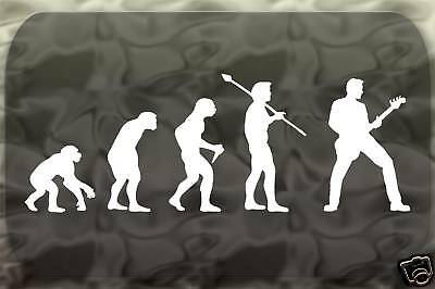 Guitar Rock Band Evolution Sticker Man Decal