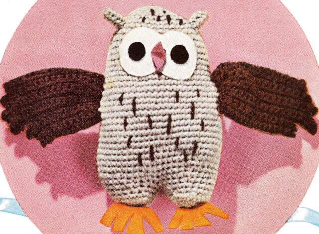 Vintage Crochet PATTERN to make OWL Stuffed Animal Soft Toy