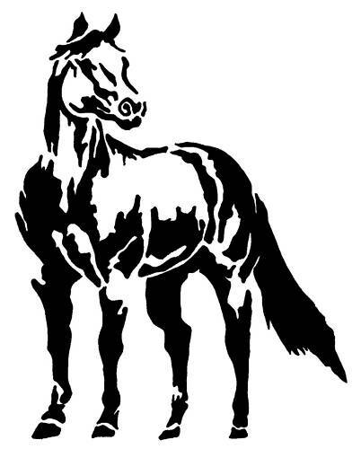 HORSE STICKER DECAL 4 CAR, FLOAT, TACK,UTE, 4x4 #143