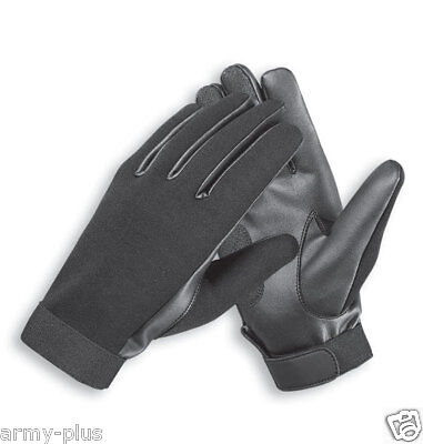 NEOPRENE GLOVES POLICE DUTY SEARCH SHOOTING LEATHER WATER RESISTANT