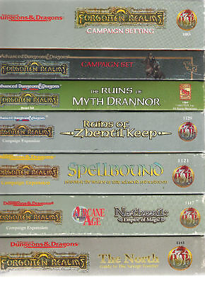 TSR AD&D FORGOTTEN REALMS BOXED SETS BOX VGC MULTI LISTING DUNGEONS & DRAGONS