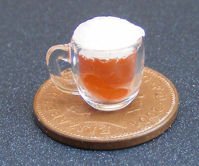 1:12 Scale Dolls House Miniature Glass GLA46 With Beer Or Lager Drink Accessory