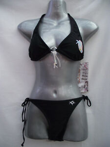BNWT-XO2-Brand-Black-Ladies-Sz-12-Bikini-Set-RRP-89