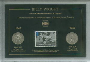 Billy-Wright-Wolverhampton-Wanderers-Wolves-100-Caps-for-England-Coin-Gift-Set