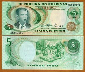 Philippines-5-Piso-1970-P-148-UNC