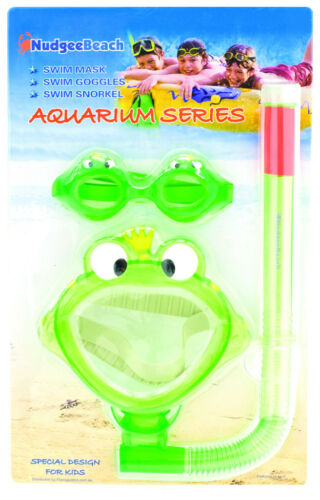 Kids Learn to Swim Mask Snorkel Goggle SET Crab DOLPHIN Snorkeling for kids NEW