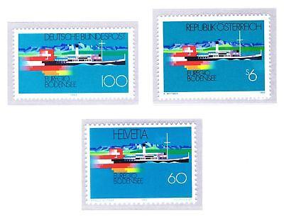 Nett Brd 1993: Bodensee Nr. 1678 Plus Die Beiden Parallelausgaben, Postfrisch! 1906 Durchsichtig In Sicht