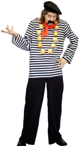 Around the World FRENCHMAN Fancy Dress Outfit SML-XXXXL