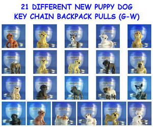 21-DIFFERENT-PUPPY-DOG-PUPPIES-G-W-KEY-CHAIN-BACKPACK-ZIPPER-PULL-YOU-PICK-ONE