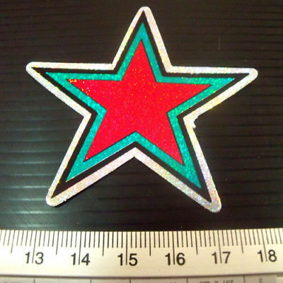 Star Car Decal Reflect Light Sticker Bike Mortor Cycles