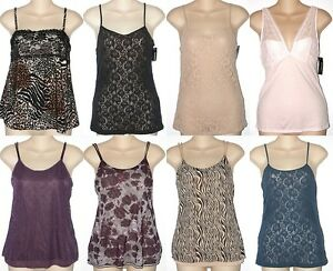George-NEW-Beige-Pink-or-Zebra-Camisole-Cami-Lingerie-Sleepwear-Top-Misses-Sizes