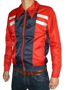 Mens-womens-Windbreaker-Jacket-Cycling-red-retro-indie-vtg-coat-mod-all-sizes