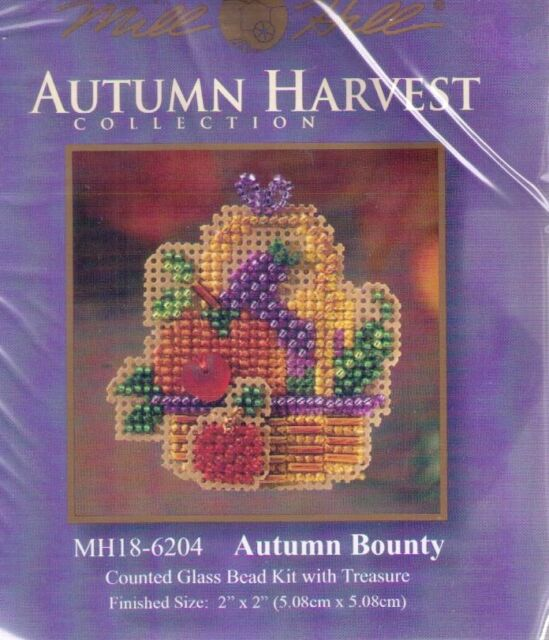 Harvest Autumn Bounty Mill Hill Cross Stitch Kit with Beads & Treasure