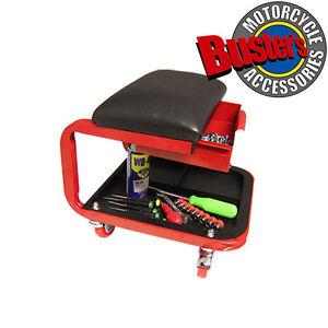 Mechanics Padded Creeper Trolley Seat Car Van Garage Tool