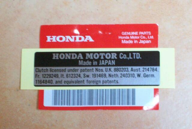 Original Label Aufkleber Emblem Sticker Motor Maker Plate Honda Dax ST 50 G NEU